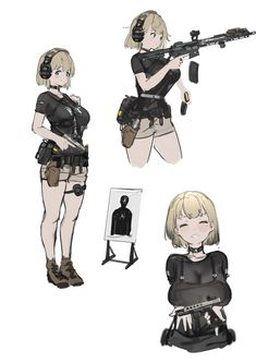 Female Character Design, Character Creation, Character Design References, Character Art, Anime Military, Military Girl, Kawaii Anime Girl, Anime Art Girl, Anime Weapons