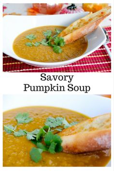 It's #pumpkineverything season and this savory pumpkin soup is the perfect cool…