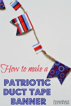 how to make fourth of july hair bows