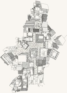 How to Draw a City using One Point Perspective: A Bird's