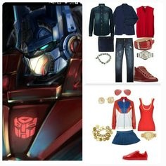The JMADDD STYLES FASHIONABLE INSPIRATION STORY BOARD LOOK. CAPTURING THE FASHIONABLE LIKENESS OF Marvel Comics character OPTIMUS PRIME...I AM JMADDD STYLES.