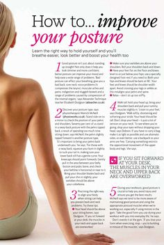 Improving posture not only improves your whole look, but it also helps trim your waist! :)
