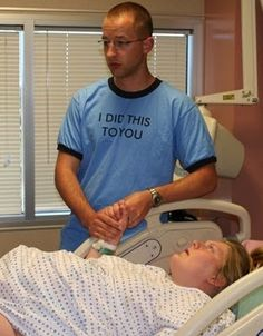 I'm getting one of these shirts for Jon- to wear at the delivery!   Haha!