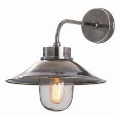 Randel Vintage Silver Wall Lamp by Arteriors Silver Walls, Modern Sconces, Unique Lighting, Lighting Ideas, Sconce Lighting, Porch Lighting, Exterior Lighting, Vintage Walls, Home Deco