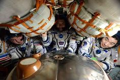 First, Kelly and Russian cosmonauts Mikhail Kornienko and Sergey Volkov will strap themselves in to a Soyuz spacecraft docked to the station.