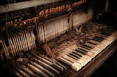Out of Tune: piano found inside of an old, abandoned church