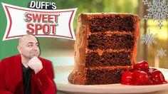 Cherry Pie-Stuffed Chocolate Cake Recipe : Duff Goldman : Food Network