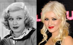 35 Celebs And Their Twins From Hundreds Of Years Ago Will Give You Chills! Christina Aguilera and Academy Award winning actress, Ginger Rogers Ginger Rogers, Christina Aguilera, Celebrity Look Alike, Celebrity Pictures, John Travolta, Jennifer Lawrence, Michael Jackson, Creepy, Famous Twins