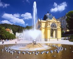 """Marianske Lazne, one of the famous """"West Bohemian Spa Triangle"""" spa towns just across the border from us in the Czech Republic."""