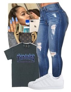"""Untitled #190"" by princessjolie ❤ liked on Polyvore featuring Louis Vuitton and adidas Originals"