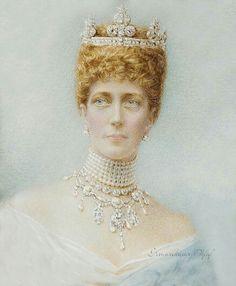 Painting of Queen Alexandra