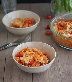 The Iron You: Bruschetta Quinoa Casserole Healthy Eating Recipes, Vegetarian Recipes, Cooking Recipes, Healthy Foods, Cooking Tips, Vegetarian Dinners, Healthy Dinners, Easy Dinners, Side Dish Recipes