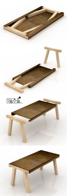flat pack table. This would be great for a tiny house.