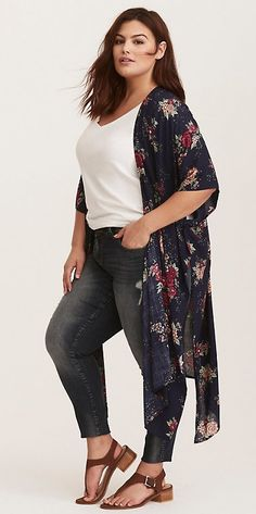Plus Size Kimono