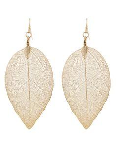 Dipped Leaf Earrings