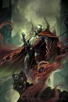 Image from fantasy and syfy.NSFW — imthenic: Spawn by SunKhamunaki Comic Book Characters, Comic Character, Comic Books Art, Comic Art, Spawn Characters, Spawn Comics, Marvel Dc Comics, Anime Comics, Carapace