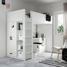 Loft Ikea, Loft Beds For Small Rooms, Loft Beds For Teens, Wardrobes For Small Bedrooms, Bunk Bed Ideas For Small Rooms, Room Ideas For Girls, Cabin Beds For Kids, Small Space Bedroom, Bunk Bed With Desk