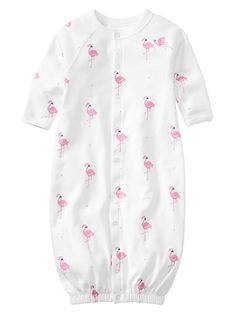 Gap | Printed convertible bundler. Flamingos