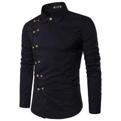 Mens Dress Shirts, Double Breast Mens Shirts, Slim Fit Casual Shirt