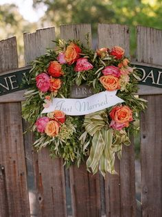 Romantic and Traditional Pink Wedding - Decor, Wreath, Mill Valley - Project Wedding Wedding Vendors, Wedding Signs, Indoor Wedding Receptions, Outdoor Weddings, Pink Wedding Decorations, Orange Wedding Flowers, Festival Wedding, Our Wedding Day, Wedding Paper