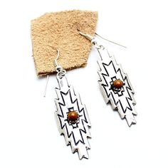 Orchid Native American Earrings