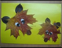 Such a neat idea for toddlers and up for art. Start by going on a bear hunt and finish with fun leaf animals.