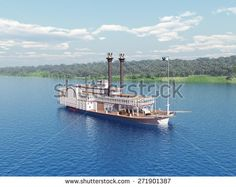 steamboat of the mississippi computer generated 3d illustration