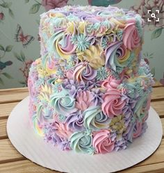 This Baker's Pastel Cake Creations Will Give You Magical Uni.- This Baker's Pastel Cake Creations Will Give You Magical Unicorn Vibes This Baker's Pastel Cake Creations Will Give You Magical Unicorn Vibes - Pretty Cakes, Cute Cakes, Yummy Cakes, Pastel Cakes, Colorful Cakes, Fancy Cakes, Savoury Cake, Creative Cakes, Cake Creations