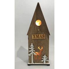 Dekorácia Woodeco 11244, Vtáčia búdka, 3xLED, 12x7x32 cm Bottle Opener, Xmas, Wall, Home, Christmas, Ad Home, Navidad, Walls, Noel