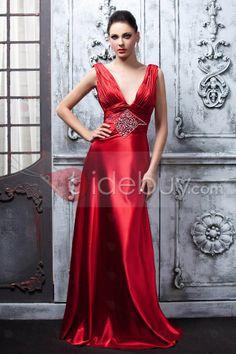 Gorgeous A-Line Floor-Length V-Neck Polina's Evening Dress : Tidebuy.com