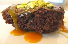 Chocolate Chunk Caramel Pistachio Brownies by Amanda @ Rhyme & Ribbons