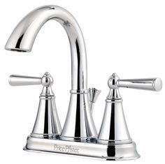 Saxton Double Handle Centerset Standard Bathroom Faucet