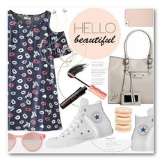 """""""So cute!"""" by stylemoi-offical ❤ liked on Polyvore featuring Converse, Mikimoto, Le Specs, Kate Spade, Molami and stylemoi"""