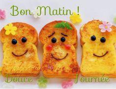 Bon Matin ! Douce Journée #mercredi toasts tartines bonne humeur petit dejeuner sourire