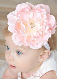 Baby Headband/ Girls Headband / Beautiful Peachy by BabyKDesigns, $14.95