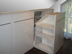 Adorable Keeping attic bedroom cool,Attic storage home depot and Attic bathroom vent fan. Loft Storage, Shelves, Interior, Diy Stairs, Home, Closet Bedroom, Closet Designs, Attic Storage, Closet Design