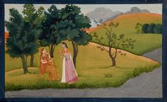 Radha vents her frustrations  Opaque watercolors on paper India, Kangra, 1775-1780 Ascribed to a master of the first generation after Nainsukh