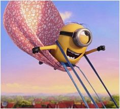 This minion could fly.