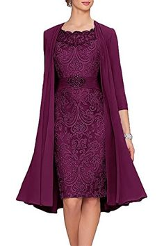 online shopping for APXPF Women's Tea Length Mother The Bride Dresses Two Pieces Jacket from top store. See new offer for APXPF Women's Tea Length Mother The Bride Dresses Two Pieces Jacket Mother Of Groom Dresses, Mothers Dresses, Mother Of The Bride Dresses Tea Length, Split Prom Dresses, Short Dresses, Dresses Dresses, Evening Party Gowns, Evening Dresses, Pretty Dresses
