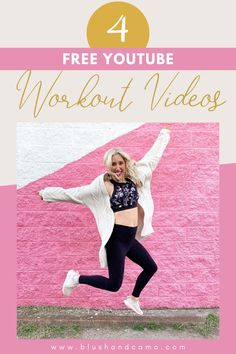 Since the first of the year, I've been trying out some different exercise classes but when it came time to pay for the membership, the amount was just outside of my budget. So, I went looking elsewhere and guess what? I found some great workout videos for free on YouTube! I do these workouts all the time! Plus I am sharing with you 2 cardio workouts that you can do in your front yard! Pin now, workout later! #exercise #workout #youtube #freeworkoutclass
