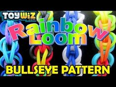 Rainbow Loom Tutorial: Bullseye Pattern - Long Band on just 1 loom!