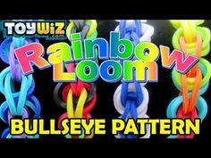 Rainbow Loom Tutorial: Bullseye Pattern - Long Band on just 1 loom!