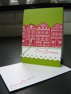 Cute gingerbread handmade Christmas cards.