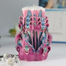 """Hand Carved Candles we saw how they make these on """"How It's Made"""" super cool"""