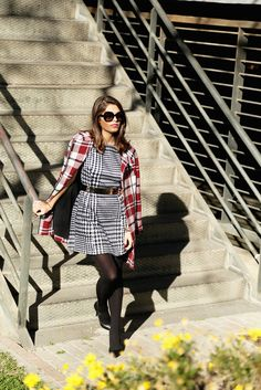 Mixing together : houndstooth & checkered prints
