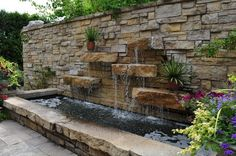 Here's Wisconsin's Top Outdoor Attraction…And You'll Definitely Want To Do It Otro muro hermoso que puede ambientar el hallazgo medieval Water Wall Fountain, Backyard Water Fountains, Outdoor Wall Fountains, Diy Garden Fountains, Backyard Water Feature, Ponds Backyard, Pond Design, Patio Design, Garden Waterfall