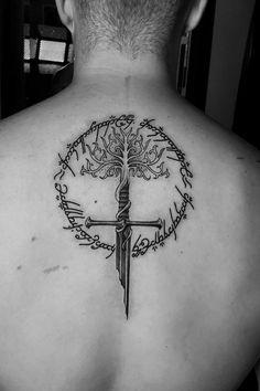 Tattoo uploaded by Alex Evans | Lord of the rings | 1194221 | Tattoodo Gandalf Tattoo, Tolkien Tattoo, Lotr Tattoo, Norse Tattoo, Tattoo Clock, Compass Tattoo, Ring Tattoo Designs, Ring Tattoos, Body Art Tattoos