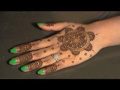▶ Eid Mehendi : Circular/Round Traditional Indian/Pakistani Henna Mehendi Design - YouTube