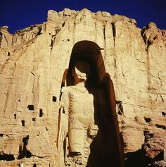 Buddas of Bamiyan. In March 2001 the Taliban destroyed two 6th century buddhas in the Bamyan Valley of Afghanistan. The statues had been hewn directly from the sandstone cliffs and painted to enhance the expressions on their faces.