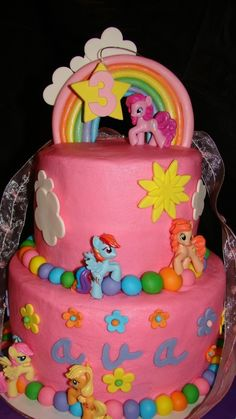 My Little Pony Cake... I know so many people who would want this. (Myself included.) Except the number on top would be considerably higher. XD